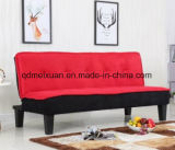 Sofá cama de madeira de tecido (M-X3153)