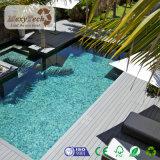 Panneau composé en plastique extérieur bon marché imperméable à l'eau de WPC pour l'étage de Decking