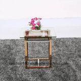 Tavolino da salotto quadrato semplice di legno di stile europeo della campagna