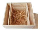 キャリアの木枠の箱のギフトの装飾のための単一のびんのワインボックス