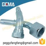 20741 Adaptador hembra de métrica 74 grado asiento cónico Adaptador de manguera hidráulica reutilizables.