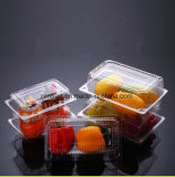 Spätester Entwurfs-trägt biodegradierbarer Haustier Kurbelgehäuse-Belüftung Kunststoffgehäuse-Einzelverkauf Behälter-Nahrungsmittelkasten-Imbiss-Tellersegment Früchte