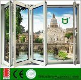 La finestra di alluminio e la finestra piegante con il doppio hanno lustrato fatto in Cina