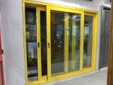 Doppio portello scorrevole di vetro di alluminio