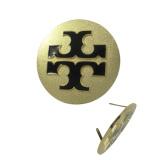 Gold angestrichenes Firmenzeichen-Metallmarken-Typenschild