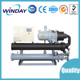 Enfriadores de agua refrigerada por agua industrial para el tornillo