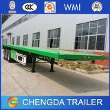 容器配達のための40ftの頑丈な三車軸平面トレーラー