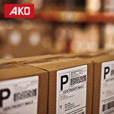 La Chine fournisseur Emballage d'impression papier thermique autocollants 2 étiquettes par feuille de la logistique des étiquettes