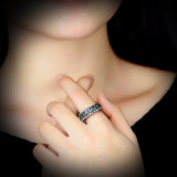 Kundenspezifischer heißer Verkaufs-Form-Schmucksache-Eingriffs-Kristall-Ring
