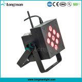 段階のための9PCS 10W RGBW無線電池式LED Uplight