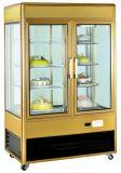 В вертикальном положении в коммерческих целях мраморный кекс Showcase дисплей шкафы