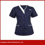 Le bel hôpital médical fait sur commande de V-Collet de femmes soigne l'uniforme (H15)