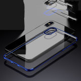 Geval van de Telefoon TPU van Galvanoplastie het Transparante voor iPhone X