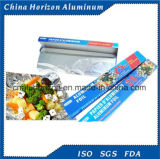 Folhas de alumínio para uso doméstico com rolo Pequeno uso de alimentos