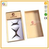 Empaquetage de luxe de boîte-cadeau de papier de logo d'or