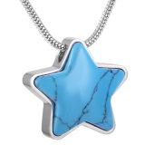 De blauwe Juwelen van het Roestvrij staal van de Herinnering van de As van de Crematie van het Huisdier van het Hart