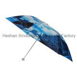 Europäisches Art-Wärmeübertragung-volles Drucken-Handbuch-geöffnete faltende Regen-Regenschirme (FU-3821ZC)