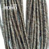 50cm Brown Dreadlocks Dupla Extensão pêlos sintéticos