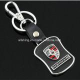 Het in het groot BulkEmbleem Keychain van de Auto van de Sleutelring van het Leer van de Manier van het Embleem van de Auto van het Type van Taille van de Manier met Beroemd Merk