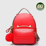 A forma Trvalling do saco de escola das crianças ensaca o saco de couro genuíno da trouxa na moda com preço de grosso Emg5165