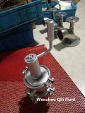 O aço inoxidável sanitário desvia a válvula