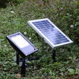Lámpara al aire libre accionada solar de la seguridad del jardín de la luz de inundación del reflector impermeable ligero solar LED de 56 LED