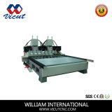 A alta precisão de 4 cabeças de vários eixos CNC Rotativa Roteador Madeira (VCT-3512R-6H)