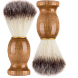 Cepillo de la barba afeitado Badger 100% Pura navaja cepillo de mango de madera metal Brush Tool Esg10380