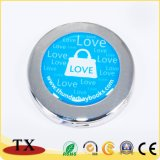 Förderung-Geschenk-runde faltbare Metallbeutel-Aufhängung mit Aufkleber