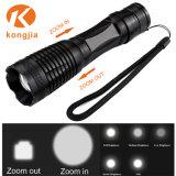 10W Xml Aluminiumnotleuchte nachladbare Zoomable LED Taschenlampe