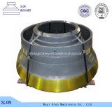 Pièces concaves de concasseur de pierres de manganèse élevé broyeur de cône pour Telsmith 52 ''