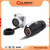 Cnlinko lp20 Auto 7 broches circulaire d'alimentation étanche IP65/IP67 pour l'extérieur du connecteur de câblage d'éclairage LED