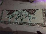 180x120cm Crystal décoratifs tapis en dalles avec lumière fluorescente pour marché de l'Arabie saoudite