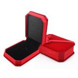 O pendente Ornaments do cartão ajustado do papel da caixa do vermelho a caixa de jóia de empacotamento do presente
