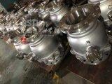Robinet à tournant sphérique monté par tourillon de bride de l'acier inoxydable 2PC de moulage