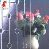 4mm 5mm 빨강 식물상 계산된 장식무늬가 든 유리 제품