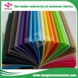 los colores completos 10-250GSM venden al por mayor la tela del Nonwoven de los PP Spunbonded