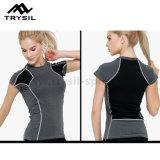 Lo sport della maglietta di forma fisica delle signore supera le camice del Active di ginnastica