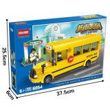 Hsanhe embroma bloques cómodos creativos del juguete del omnibus de Eco del edificio que se enclavijan