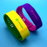 이중 색깔 조정가능한 RFID 지능적인 NTAG213 NFC 실리콘 팔찌