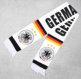 Le mini ventilateur de football de drapeau a tricoté l'écharpe du football estampée par coutume d'usine