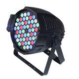 54*3W RGBW LEDの同価ライトLED段階ライトディスコライト