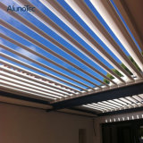 Pergola à abats-sons en aluminium motorisé de toit personnalisé