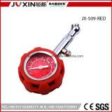 Juxin 고정확도 타이어 압력 계기 차 트럭과 기관자전차를 위한 빨간 기압 타이어 계기