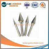 Cone da extremidade esférica rebarbas rotativo de carboneto de diâmetro 10 mm X 20 mm de comprimento