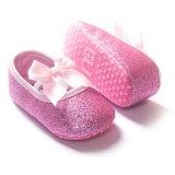 Сладостная шпаргалка девушки малыша обувает тапки младенца Sequins натянутого лука мягко единственные Anti-Slip