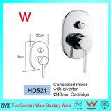Watermerk in de Tapkraan van de Douche van de Badkamers van het Messing van de Muur (HD521 die) wordt goedgekeurd