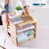 DIY 4 camadas do organizador de madeira D9119 da mesa do estilo novo