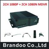 4CH HD 4G GPS bewegliche DVR Stützdoppelspeicher 128g des Auto-