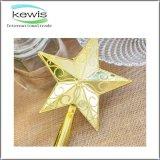 Bola 2017 del ornamento de la Navidad de la estrella de la artesanía para el día de fiesta
